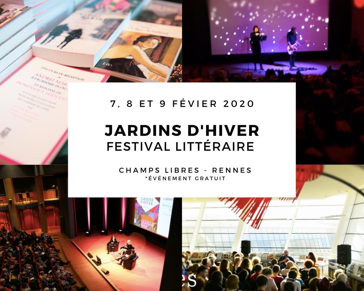 Au programme deJardins d'Hiver, le festival littéraire de Rennes Vzpsm